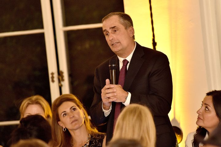 Intel CEO Brian Krzanich at The Dinner For Equality co-hosted by Patricia Arquette and Marc Benioff on Feb. 25, 201