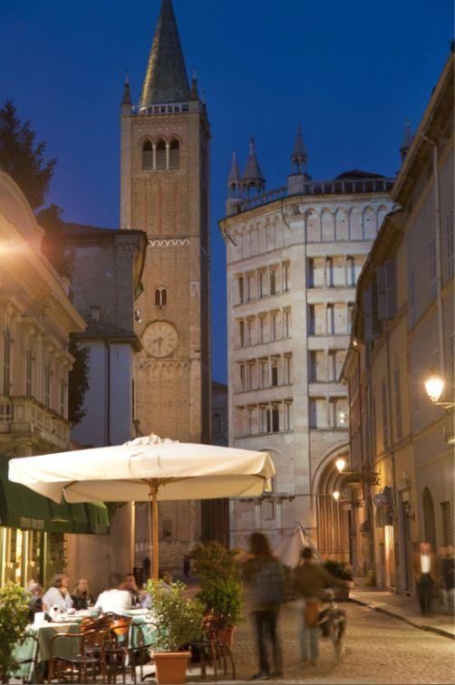 Parma, city center.