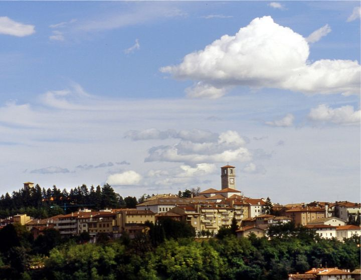 The village of San Daniele and the curing of the prosciuttos.