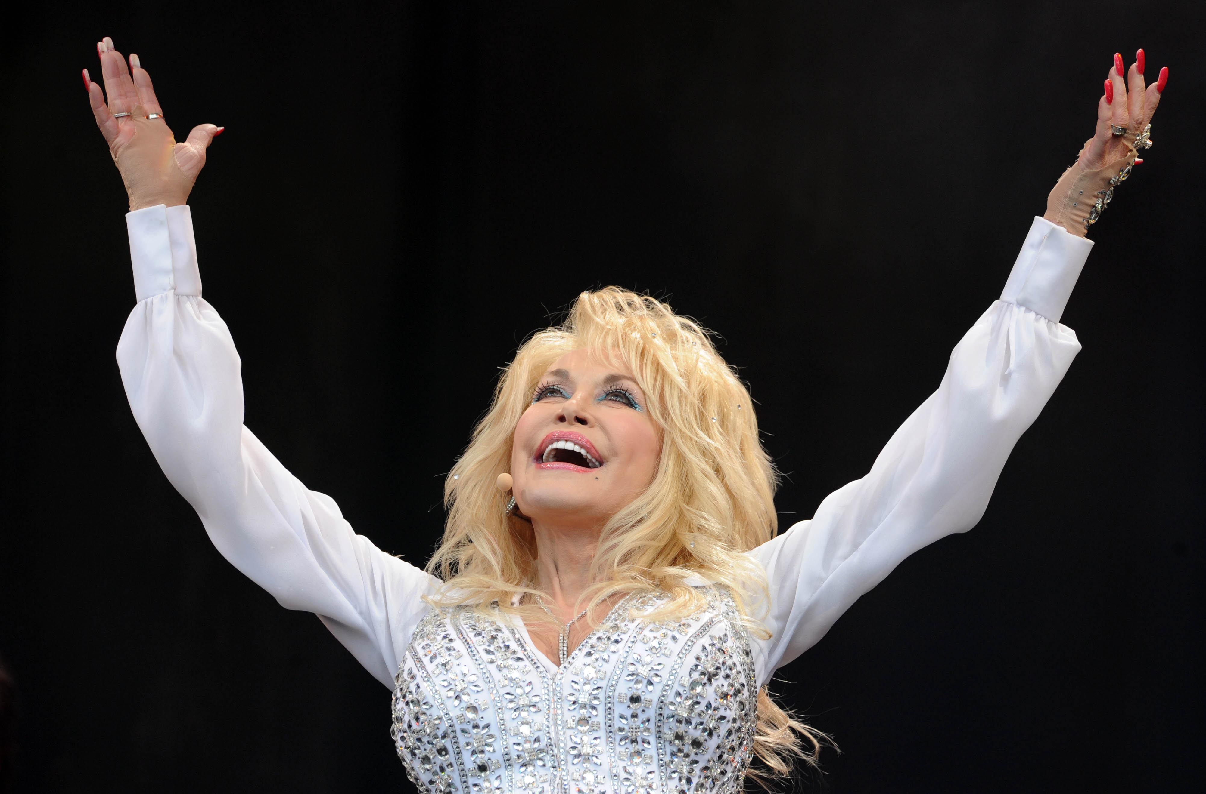 Dolly Parton performs at theGlastonbury Festival June 2014.