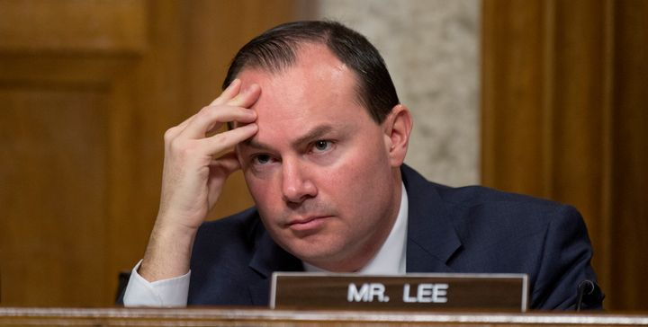 Sen. Mike Lee (R-Utah) thinks Michigan can handle the Flint water crisis on its own.(Photo By Tom Williams/CQ Roll Call