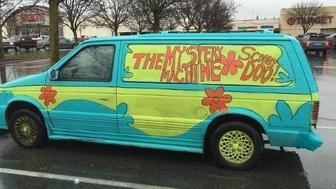 A Shasta County, California woman led law enforcement officers on a pursuit in a mini van painted to look like the 'Mystery Machine' from the Scooby Doo cartoon.