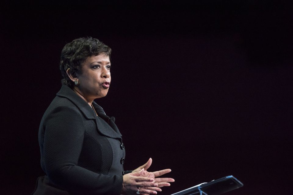 Lynch became the nation's top cop last April after a lengthy confirmation hold-up, and is the first black woman to hold the p