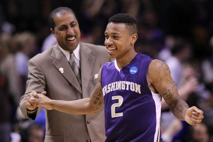 "Thomas calls Lorenzo Romar, his college coach at the University of Washington, ""a father figure."""