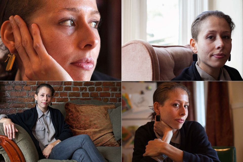 Lisa, a 27-year-old restaurant manager, posed for a portrait in her home in Massachusetts on October 11, 2012. Lisa said she