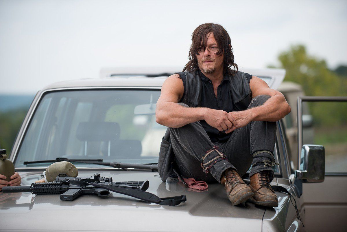 Daryl, played by Norman Reedus, sees death on the horizon.