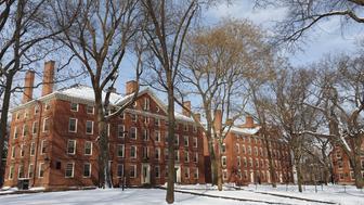 Harvard University in winter