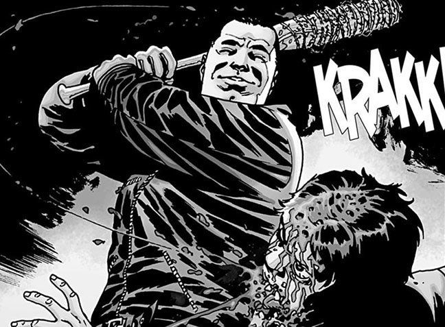 Negan kills Glenn with Lucille.