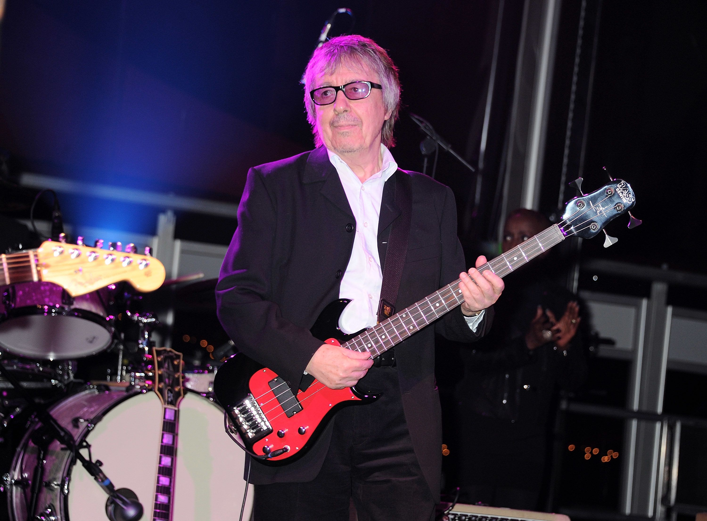 Bill Wyman (C) and his Rhythm Kings perform at Gabrielle's Gala, the inaugural fundraiser hosted by Denise Rich in aid of Gab