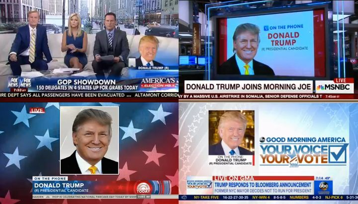 Flipping through the networks at 7 a.m. felt like all Trump, all the time.