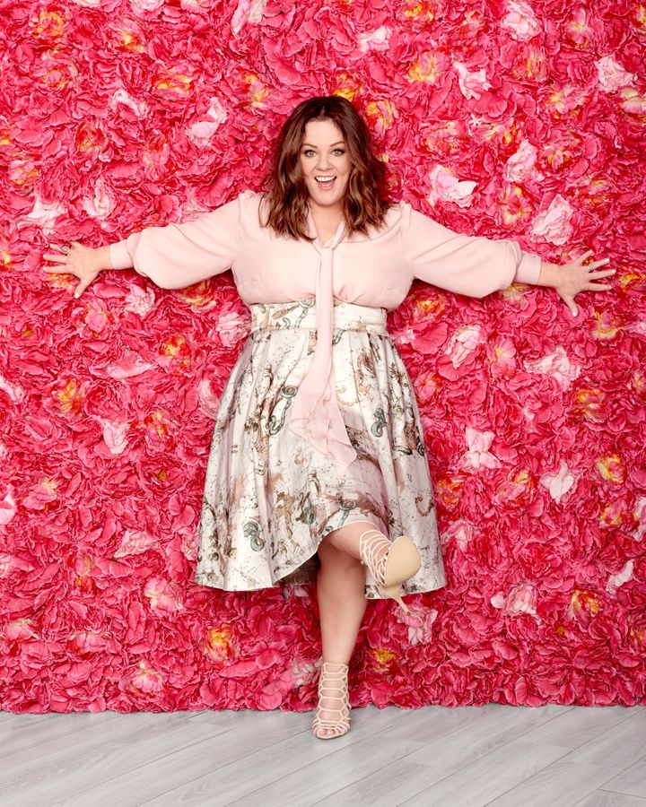 Melissa McCarthy as the April cover star of Redbook magazine.