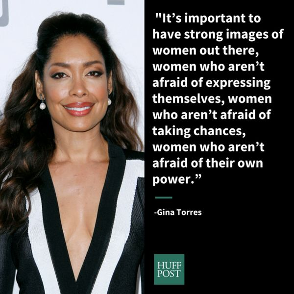 """It's important to have strong images of women out there, women who aren't afraid of expressing themselves, women who a"