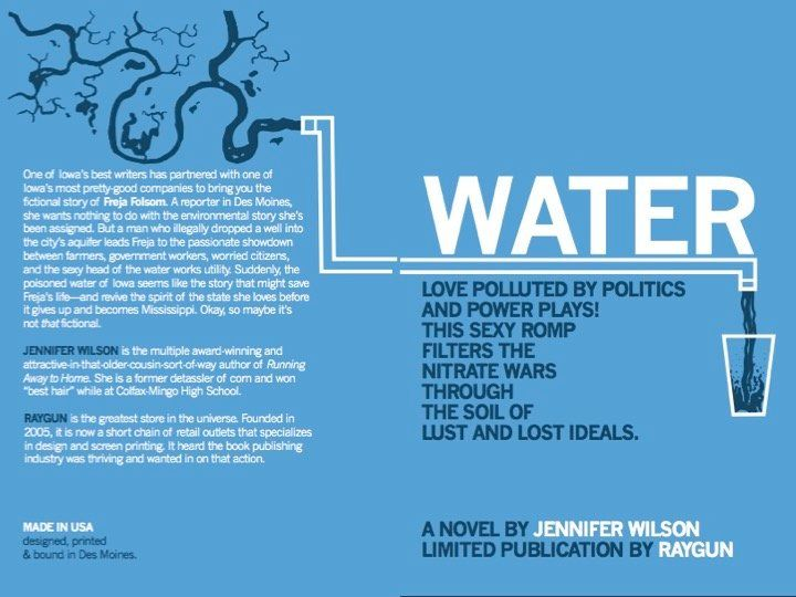 Jennifer Wilson's novel, <i>Water</i>, was released last month. It takes a titillating approach to the issue of&nbs