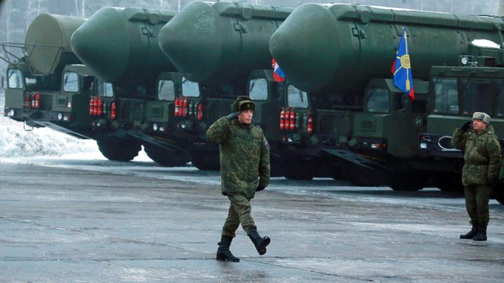 "Russia sometimes refers to its military armaments as flowers, and to the Russian army as a ""garden."" In this Feb. 25 pho"