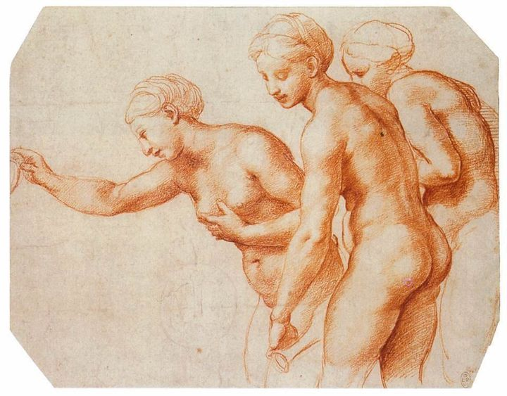 "<a href=""http://www.wga.hu/frames-e.html?/html/r/raphael/7drawing/1/25study.html"" target=""_blank"">Raphael, ""Study for the Thr"