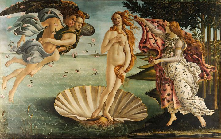 "<a href=""https://en.wikipedia.org/wiki/The_Birth_of_Venus"" target=""_blank"">Sandro Botticelli, ""The Birth of Venus,"" 1483-1485"