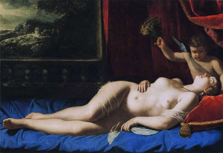 "<a href=""https://commons.wikimedia.org/wiki/File:Artemisia_Gentileschi_-_Sleeping_Venus.JPG"" target=""_blank"">Artemisia Gentil"