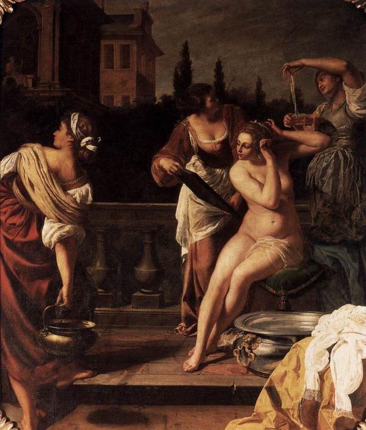 "<a href=""https://en.wikipedia.org/wiki/Artemisia_Gentileschi"" target=""_blank"">Artemisia Gentileschi, ""Bathsheba,"" 17th centur"
