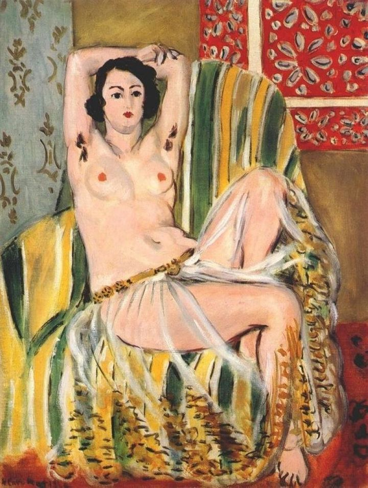"<a href=""https://en.wikipedia.org/wiki/Odalisque_with_Raised_Arms"" target=""_blank"">Henri Matisse, ""Odalisque with Raised&nbsp"
