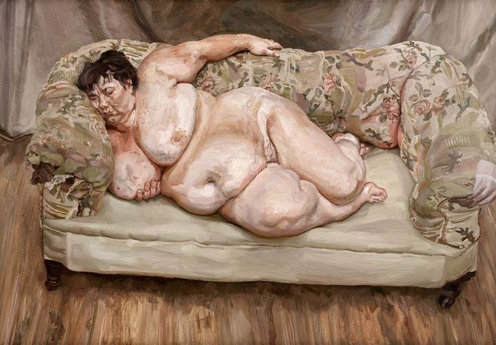 "<a href=""https://en.wikipedia.org/wiki/Benefits_Supervisor_Sleeping"" target=""_blank"">Lucian Freud, ""Benefits Supervisor Sleep"