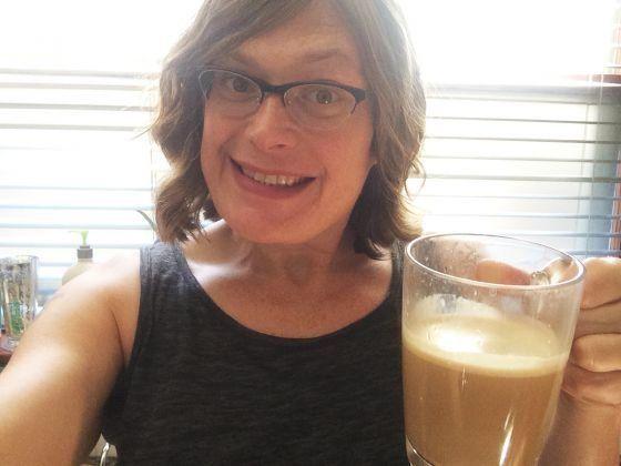 Filmmaker Lilly Wachowski in a self portrait.