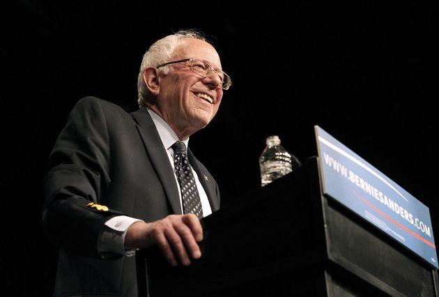 Democratic presidential candidate Sen. Bernie Sanders (I-Vt.) speaks during a campaign event in Miami...