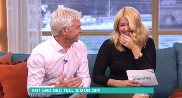 Phillip Schofield and Holly Willoughby couldn't contain their
