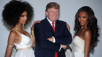 Donald Trump attends a Miss Universe Organization photocall at Chelsea Piers, Studio 59 in New York City on July 27, 2011.