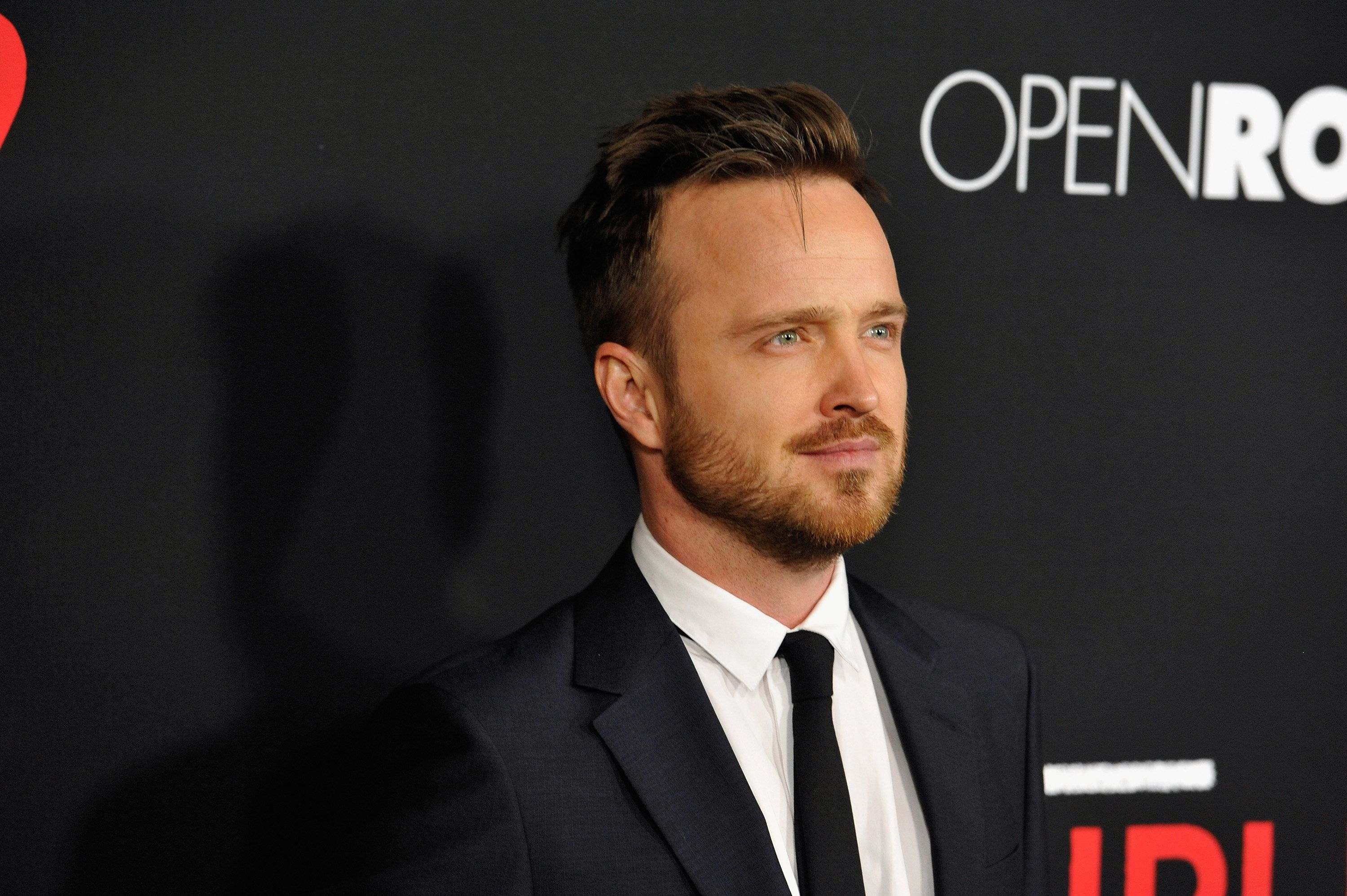 LOS ANGELES, CA - FEBRUARY 16:  Actor Aaron Paul attends the premiere of Open Road's new film 'Triple 9' at Regal Cinemas L.A. Live on February 16, 2016 in Los Angeles, California.  (Photo by Michael Tullberg/Getty Images)