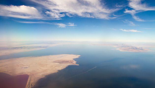 Utah lake shrinking