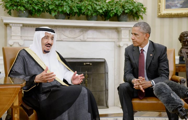 King Salman of Saudi Arabia, left, took over last January as U.S.-Saudi relations were already cooling. They have since