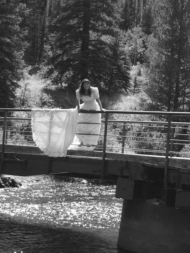 Herrera, footloose and fancy-free on a bridge.