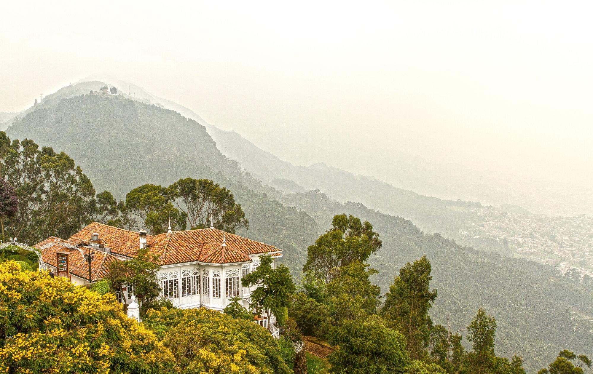 Casa San Isidro restaurant on top of Montserrate Mountain, Bogota Colombia.