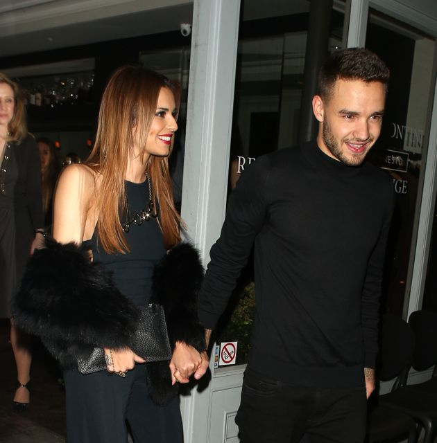 The look of love? Cheryl Fernandez-Versini and Liam Payne leave Salmontini restaurant in