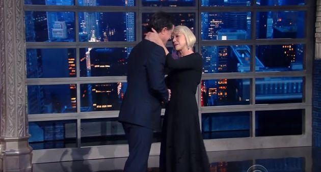 Helen Mirren Stuns Stephen Colbert With Super Sultry