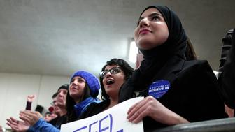 DEARBORN, MI - FEBRUARY 15:   People listen to Democratic presidential candidate, U.S. Sen. Bernie Sanders speak at a campaign rally at United Auto Workers Union Local 600 February 15, 2016 in Dearborn, Michigan. The UAW has not yet endorsed a presidential candidate. The next voting for the Democratic candidates will be the Nevada caucus on February 20.  (Photo by Bill Pugliano/Getty Images)