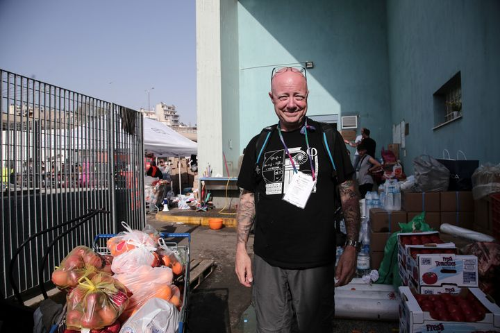 American Norman Hering says help is always needed at Piraeus.