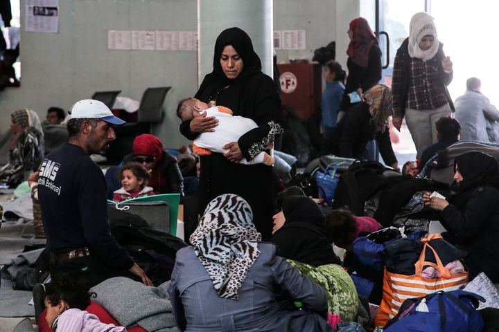 The port of Piraeus has become one of the country's largest makeshift  shelters for migrants and
