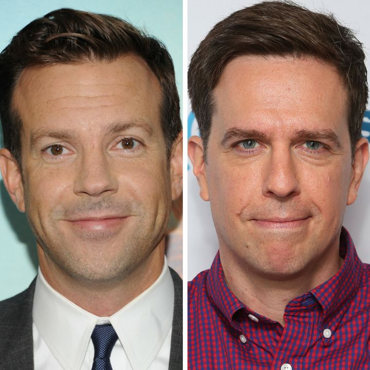 Note: not the same person. (L) Jason Sudeikis (R) Ed Helms