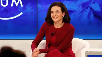 DAVOS 2016; World Economic Forum -- Pictured: Sheryl Sandberg, COO of Facebook, participates in a panel discussion during the annual World Economic Forum in Davos, Switzerland, on January 19, 2016 -- (Photo by: David A.Grogan/CNBC/NBCU Photo Bank via Getty Images)