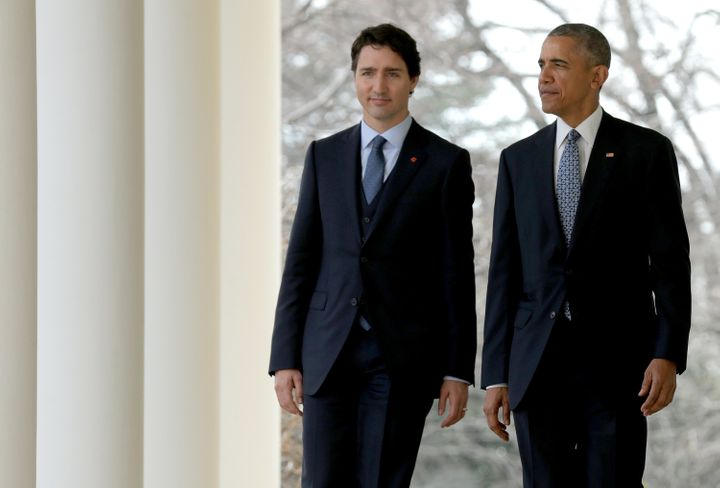 Obama and Trudeau held a joint press conference Thursday.
