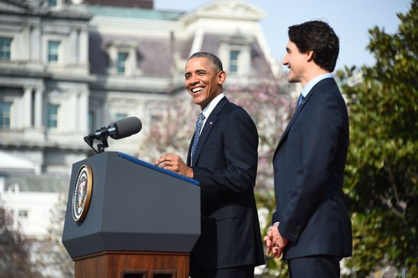 """""""We haven't always conveyed how much we treasure our alliance and ties with our Canadian friends,"""" Obama said."""