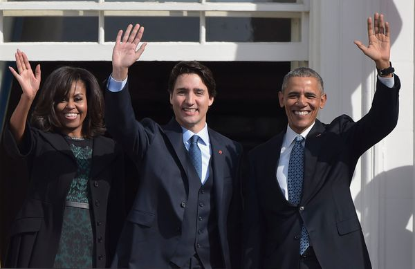 The Obamas and the Trudeausseem to get along famously.