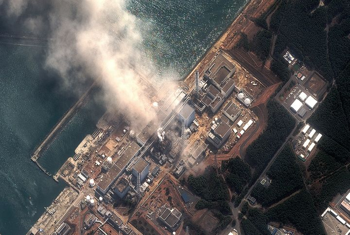 The Fukushima Daiichi Nuclear Power plant after a massive earthquake and subsequent tsunami on March 14, 2011 in Futaba, Japa
