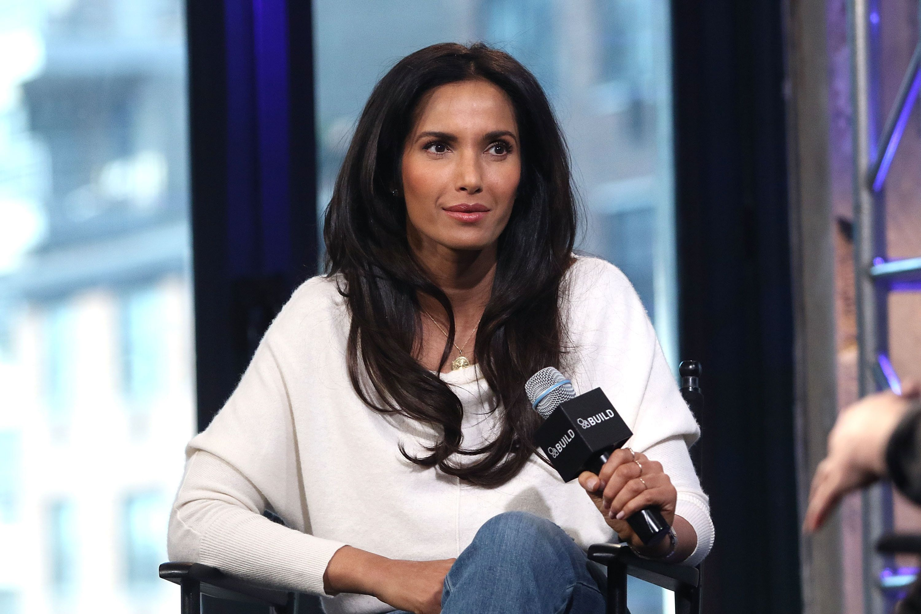 NEW YORK, NY - MARCH 08:  Padma Lakshmi attends AOL Build Speakers Series - to discuss 'Top Chef' and 'Love, Loss and What We Ate' at AOL Studios In New York on March 8, 2016 in New York City.  (Photo by Laura Cavanaugh/FilmMagic)