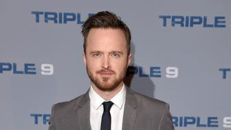 LONDON, ENGLAND - FEBRUARY 09:  Aaron Paul attends the Special Screening of 'Triple 9' at Ham Yard Hotel on February 9, 2016 in London, England.  (Photo by Karwai Tang/WireImage)