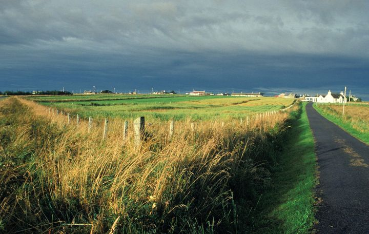 The rural Perthshire, Scotland, countryside near the area where John Macdonald snapped a photo of a UFO.