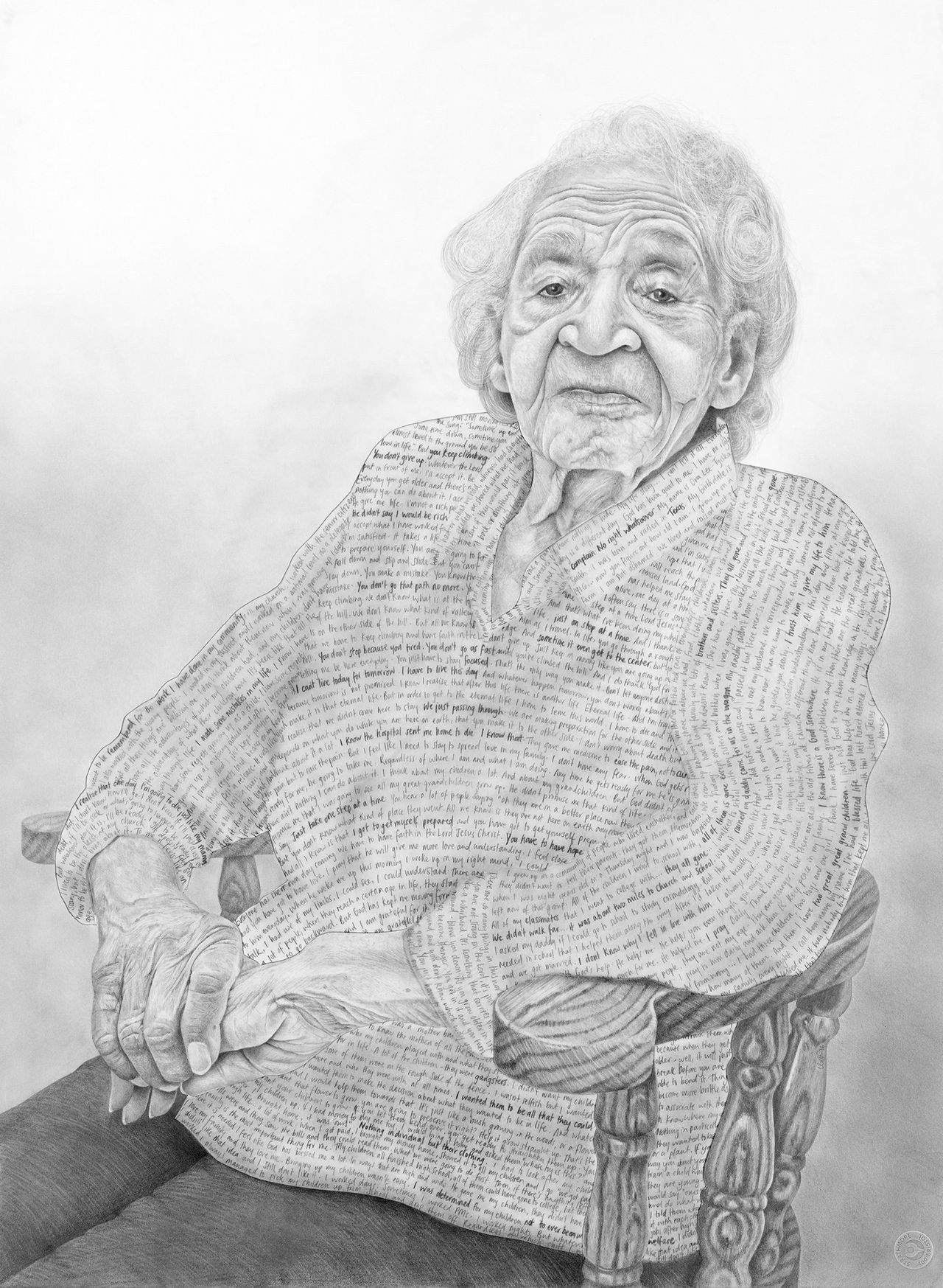 """""""I was introduced to Ora through Pathways Hospice. We met in her home in Portola where she lived with several generations of her family. At 99 years old, Ora was a great-great-grandmother of two and the last living person of her many siblings and school friends. Ora was a staunch believer in resilience and hard work and was proud that each of the generations of her family had more opportunities than the last. At the age of 8, Ora decided to be baptized into Christianity and went on to be an active member of her Church community throughout her life. She attributed her ability to move through life's challenges to her unwavering faith in God and told me that she had spent her whole life in preparation for the day that God would decide to take her from this earth. Ora died on January 8, 2016."""""""