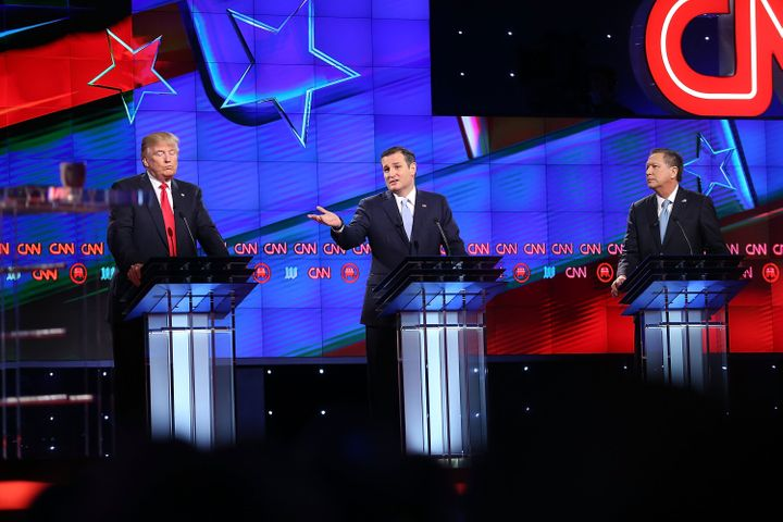 The Republican presidential debate at the University of Miami.