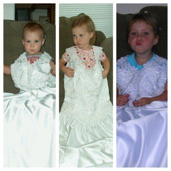 Brandy Yearous' daughter Allison during three different birthdays wearing the dress